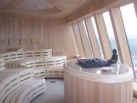 AidaDiva- Saunabereich mit Meerblick