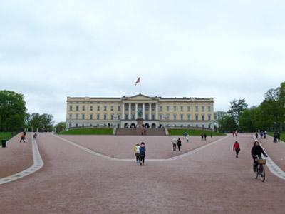 Die königliche Residenz in Oslo