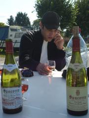 Weinprobe mit Stephane.